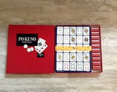 Po-Ke-No POKER-KENO Vintage Game  U.S. Playing Card by Pastfinds