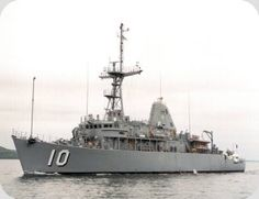 USS Warrior, MCM-10, Mine countermeasures ship, Avenger class. Commissioned Apr 7, 1993.