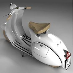 Beautiful white vintage Vespa