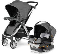 Chicco Bravo Trio Travel System 3-in-1 Baby Travel System Stroller Orion