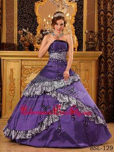 4e7788f5a15 Buy exclusive purple with zebra print 2013 quinceanera dress sale from 15  quinceanera dresses collection