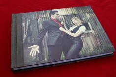 "Amazing wedding album by Finao Albums www.finao.com ""Armour"" metal cover.  # wedding album senior portrait boudoir baby book photography photographer"