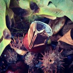 Anello con cuore a origami