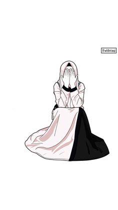 Hijab Dp, Mode Hijab, Hijabi Girl, Girl Hijab, Girl Cartoon, Cartoon Art, Hijab Drawing, Funny Phone Wallpaper, Islamic Cartoon