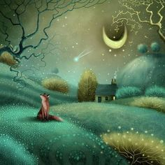 Illustrations, Illustration Art, Fox Art, Fantastic Art, Whimsical Art, Belle Photo, Cute Art, Art Prints, Drawings