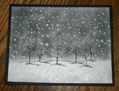 snowy foggy night by stampandweave - Cards and Paper Crafts at Splitcoaststampers