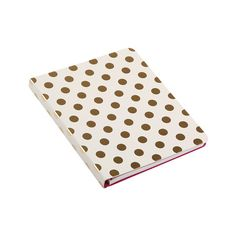 kate spade new york - Small Spiral Notebook - Gold Dots Kate Spade, Gold Dots, Le Point, Stationery, Notebook, Points, New York, Passion, Paper Mill