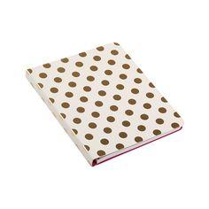 kate spade new york - Small Spiral Notebook - Gold Dots