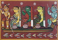 Jamini Roy - A Treasure of Modern Folk Art Famous Art Paintings, Indian Art Paintings, Madhubani Art, Madhubani Painting, Indian Folk Art, Indian Artist, Om Namah Shivaya, Worli Painting, Budha Painting