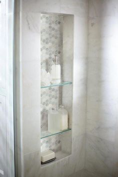 Bathroom decor for your master bathroom renovation. Learn master bathroom organization, bathroom decor ideas, master bathroom tile ideas, master bathroom paint colors, and more. Bathroom Renos, Basement Bathroom, Bathroom Renovations, Bathroom Ideas, White Bathroom, Bathroom Organization, Bathroom Cabinets, Remodel Bathroom, Bathroom Showers