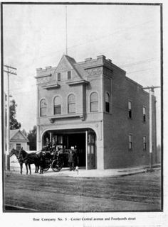 Engine Company No. 30 seen when it was Hose Company No. 5 from a corner (1880/1920) - Dunbar Economic Development Corporation Collection, 1880-1986