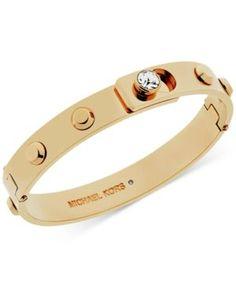 Michael Kors Crystal Stud Bangle Bracelet - Gold