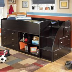 Embrace Twin Loft Bed with Bookcase