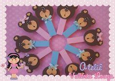 Pregadores decorados ursinhos em EVA Valor corresponde ao saquinho com 12 unidades R$18,00
