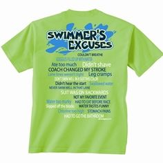 Swim T-Shirt Design Ideas | Swimming Everywhere T-Shirt for | swim ...