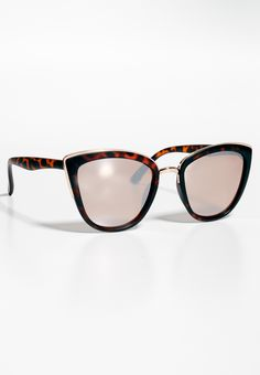 matte cat eye sunglasses with metal trim and mirrored lenses (original price, $12.50) available at #Maurices