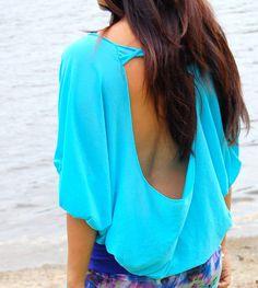 Ocean Spirit Open Back Top (Turquoise)