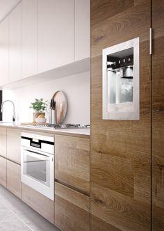 Kitchen Room Design, Kitchen Cabinet Design, Modern Kitchen Design, Home Decor Kitchen, Interior Design Kitchen, Kitchen Furniture, Boho Kitchen, Interior Paint, Country Kitchen