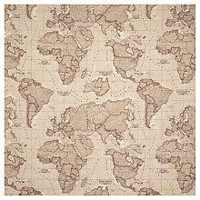 Buy John Lewis World Map Curtain, Mocha Online at johnlewis.com