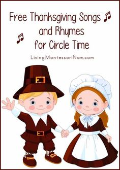 I LOVE Thanksgiving, and Thanksgiving songs are lots of fun for circle time in the classroom or at home!