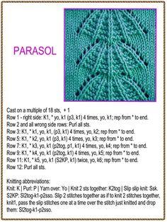 Knitting Patterns Wear A stitch pattern Lace Knitting Stitches, Beginner Knitting Patterns, Knitting Basics, Lace Knitting Patterns, Knitting Charts, Loom Knitting, Knitting Designs, Hand Knitting, Stitch Patterns