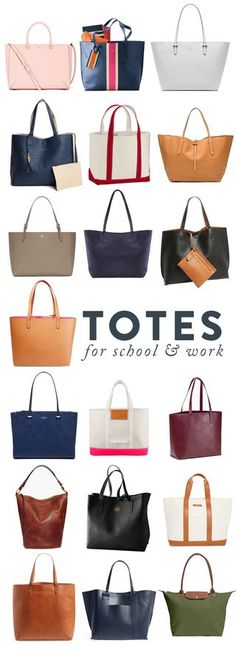 I hate to say these words, but school is just around the corner… and first jobs, and internships, and fall. Which makes it the perfect time for a new tote. As much as I love my purses, I'm such a suck