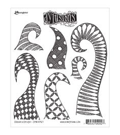 Ranger Dyan Reaveley Dylusions Cling Stamp Doodle Delight