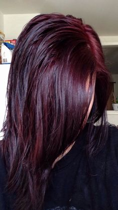 Dark Red Hair Color-dark red and red hair colors - New Hair Chocolate Cherry Hair Color, Black Cherry Hair Color, Cherry Hair Colors, Hair Color And Cut, Hair Color Dark, Color Red, Chocolate Red Hair, Black To Red Hair, Cherry Brown
