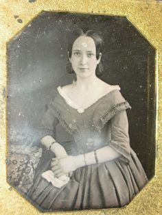 A sweet, ingenuous girl and she's pretty too....1840s.