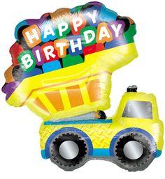 Dump Truck Jumbo Foil Balloon from BirthdayExpress.com