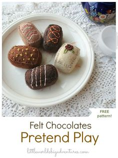 How to Make Simple Felt Chocolates for Pretend Play | Little Worlds Big Adventures