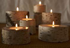 Aspen candle holder uses metal tea lights Wood Tea Light Holder, Wooden Candle Holders, Wooden Diy, Handmade Wooden, Bois Diy, Diy Candles, Handmade Home, Candle Making, Tea Lights