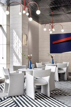 蓝光星珀售楼处 Dining Table Chairs, Dining Room, Sales Center, Sales Office, Cigar Room, Co Working, Acoustic Panels, Detailed Drawings, Magazine Design
