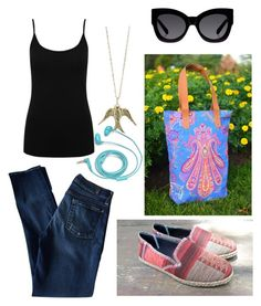 """""""Untitled #15"""" by franvargasv ❤ liked on Polyvore featuring 7 For All Mankind, M&Co, Karen Walker and FOSSIL"""