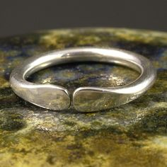 Simple Silver Ring / Hammered Sterling Band  /  by MetalRocks, $32.00