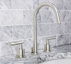 Pottery Barn Exton Faucet // Chrome (other finishes avail.) // $549 // Bath 2