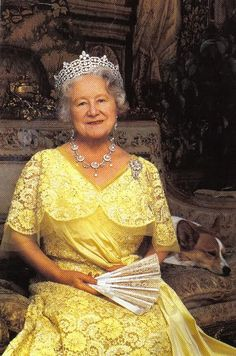 HM The Queen Mothe, consort of King George VI .... 87th birthday portrait