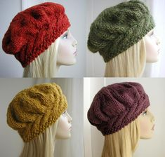 Weekend Cable Beret via Craftsy