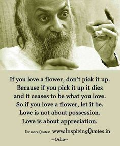 Appreciation Quotes by Osho - Beautiful Love Thoughts Images Pictures