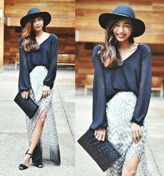 Naked Zebra Black Long Sleeve W/ Open Back, Sugarlips Moonlight Skirt