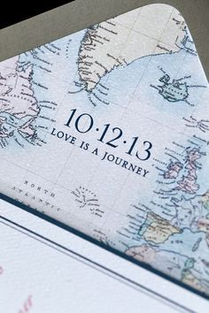 Vintage Map Wedding Invitations | Your love counts! A simple SHARE or LIKE helps The Girl Tyler stay on ...
