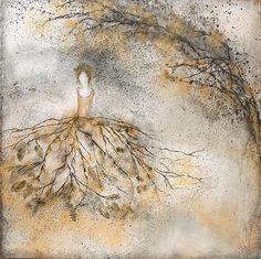 Penelope like bird fluff...60x60cm acrylic canvas