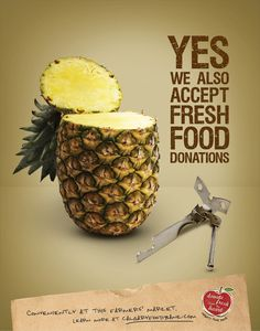 """""""fresh from the heart"""" - Calgary food bank ad campaign"""