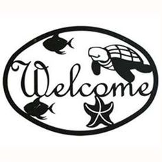 Wrought Iron Ocean Welcome Sign at Timeless Wrought Iron