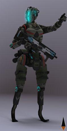 Robot Concept Art, Weapon Concept Art, Robot Art, Combat Robot, Borderlands Art, Advanced Warfare, Female Pilot, Sci Fi Armor, Future Soldier