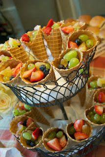 Hunger Games Party - fruit cornucopias