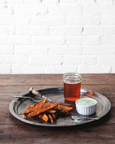 Post image for Sweet Potato Fries with Cilantro Lime Dipping Sauce