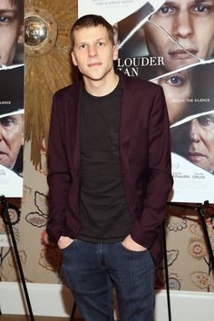 Jesse Eisenberg attends the 'Louder Than Bombs' New York Premiere.
