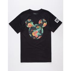 Neff Disney Collection Astro Floral Mickey Mens T-Shirt ($18) ❤ liked on Polyvore featuring men's fashion, men's clothing, men's shirts, men's t-shirts, mens crew neck t shirts, mens short sleeve shirts, mens floral shirts, j crew mens shirts and mens cotton shirts