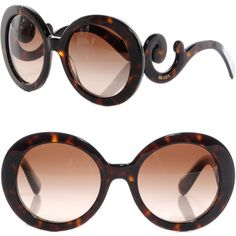 PRADA Baroque Sunglasses SPR 27N Tortoise ❤ Sold
